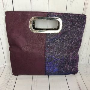 Giannini Purple Sparkly Handbag Clutch